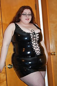BBW Mature femdom pvc latex leather strapon 19