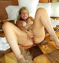 Mature slut gobbles cock for sex