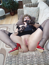 Naughty brunette housewife playing with herself
