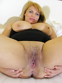 Naughty housewife getting her pussy wet
