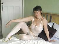 Vintage mum in sexy lingerie