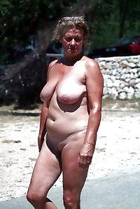 Older nudists on beach! Amateur!