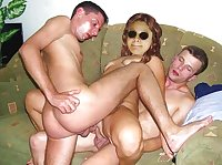 Amateur threesome and sharing collection