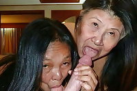 Sexy mom sucks his hard cock
