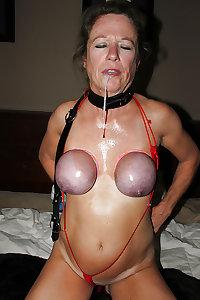 BDSM Mature + BBW  tit and nipple torture 01
