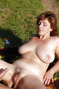 Busty Hairy Mature Fucked In The Countryside