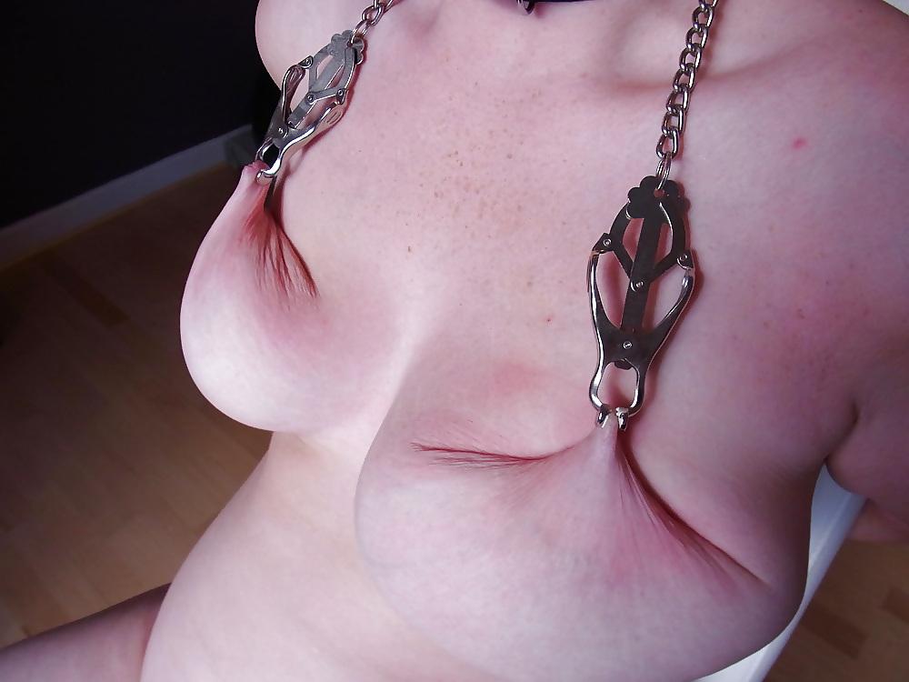Milf mature slaves  tits torture 1