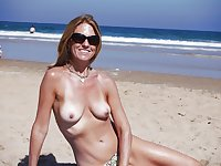 Only the best amateur mature ladies at the beach 19.