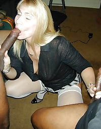 Married white whores sucking black cocks 4