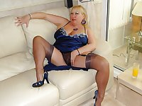 Horny matures in stockings 11