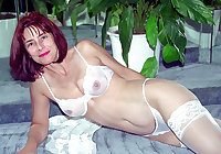 Only the best amateur mature ladies wearing white panties 6