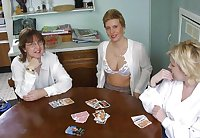 Village ladies - Let's play strip poker.