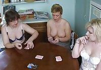 Village ladies - Let's play strip poker.
