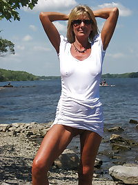 Only the best amateur mature ladies at the beach 7.